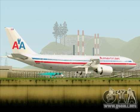Airbus A300-600 American Airlines para la vista superior GTA San Andreas