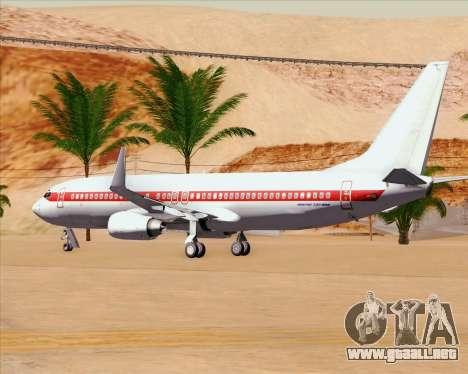 Boeing 737-800 EG&G - Janet para la vista superior GTA San Andreas