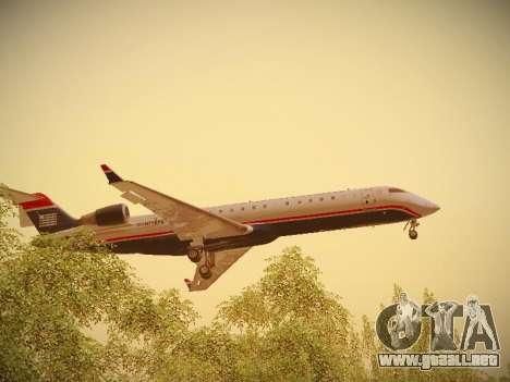 Bombardier CRJ-700 US Airways Express para GTA San Andreas interior