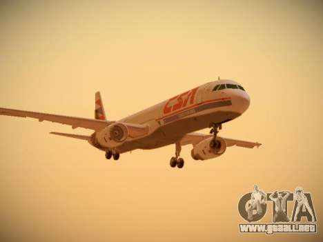 Airbus A321-232 Czech Airlines para GTA San Andreas left