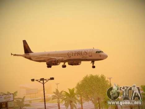 Airbus A321-232 Cyprus Airways para la vista superior GTA San Andreas