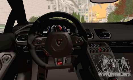 Lamborghini Huracan 2014 para la visión correcta GTA San Andreas