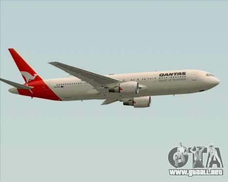 Boeing 767-300ER Qantas (Old Colors) para visión interna GTA San Andreas