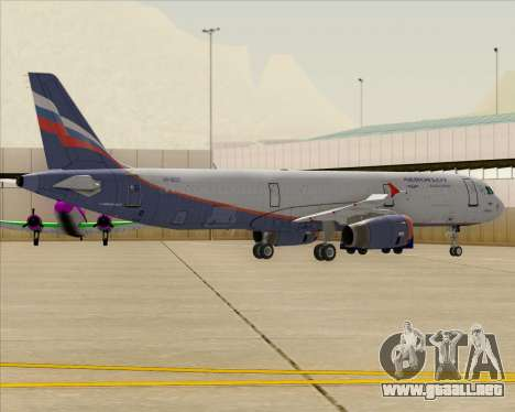 Airbus A321-200 Aeroflot - Russian Airlines para las ruedas de GTA San Andreas