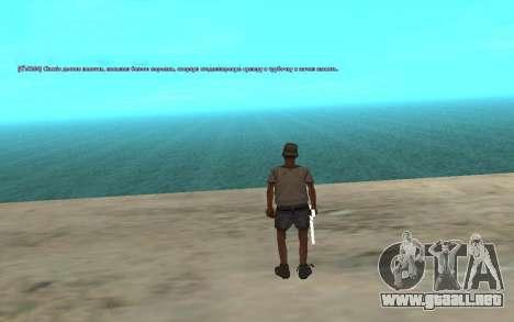 El uso automático de drogas para GTA San Andreas tercera pantalla