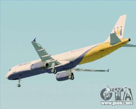 Airbus A321-200 Monarch Airlines para vista inferior GTA San Andreas