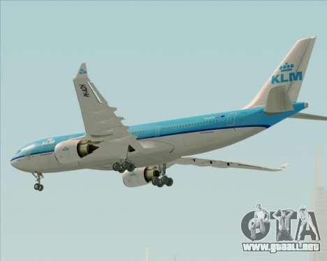 Airbus A330-200 KLM - Royal Dutch Airlines para vista lateral GTA San Andreas