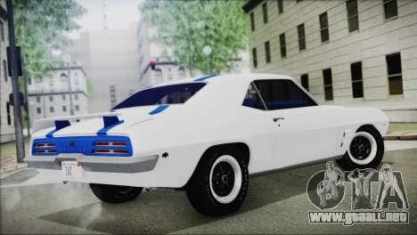 Pontiac Firebird Trans Am Coupe (2337) 1969 para GTA San Andreas left