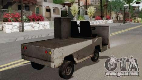 Umbrella Cart para GTA San Andreas vista posterior izquierda