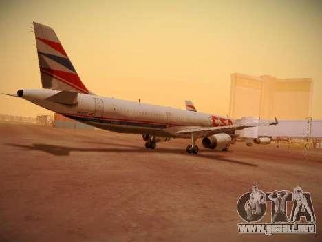 Airbus A321-232 Czech Airlines para visión interna GTA San Andreas