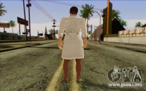 Metal Gear Solid 4 Naomi Hunter para GTA San Andreas segunda pantalla