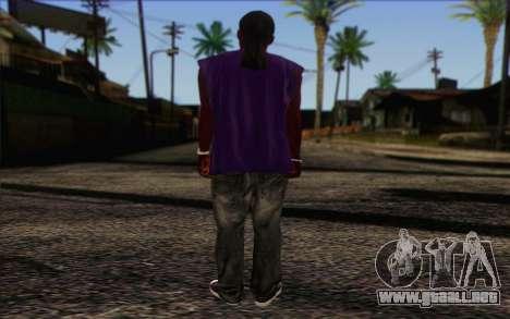Ballas from GTA 5 Skin 1 para GTA San Andreas segunda pantalla