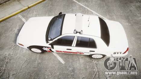 Ford Crown Victoria LC Sheriff [ELS] para GTA 4 visión correcta