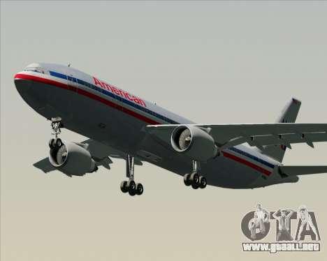Airbus A300-600 American Airlines para GTA San Andreas left
