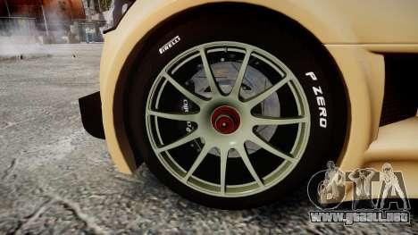 Gumpert Apollo S 2011 para GTA 4 vista hacia atrás