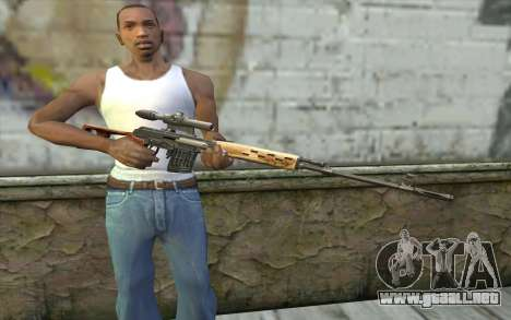 Fusil De Francotirador Dragunov para GTA San Andreas tercera pantalla