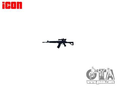 Máquina QBZ-03-1 destino para GTA 4 adelante de pantalla