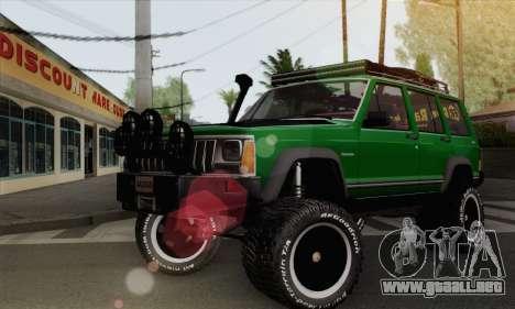 Jeep Cherokee 1998 Off Road 4x4 para GTA San Andreas