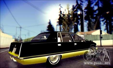 Cadillac Fleetwood 1993 Lowrider para la visión correcta GTA San Andreas