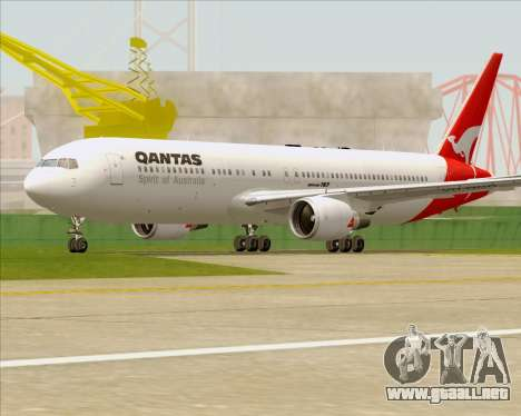 Boeing 767-300ER Qantas (Old Colors) para la vista superior GTA San Andreas