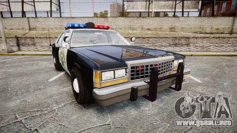 Ford LTD Crown Victoria 1987 Police CHP1 [ELS] para GTA 4