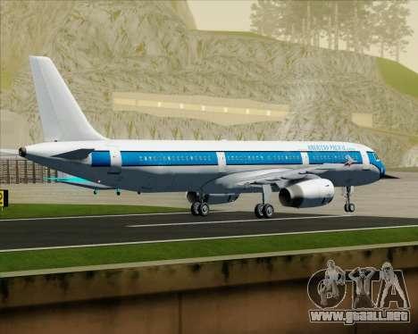 Airbus A321-200 American Pacific Airways para GTA San Andreas vista hacia atrás