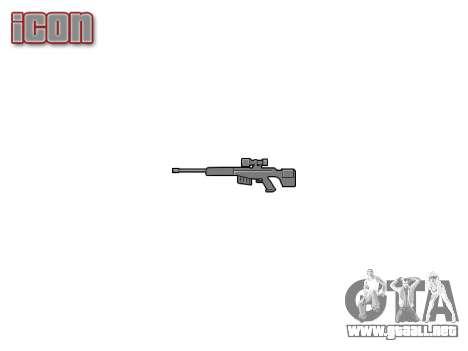 De gran calibre, rifle de francotirador para GTA 4 tercera pantalla