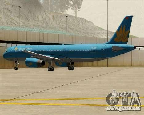 Airbus A321-200 Vietnam Airlines para las ruedas de GTA San Andreas