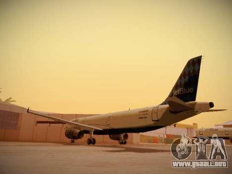 Airbus A321-232 jetBlue Airways para GTA San Andreas vista posterior izquierda