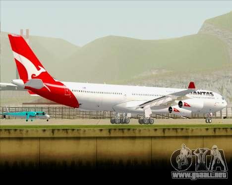 Airbus A340-300 Qantas para vista inferior GTA San Andreas
