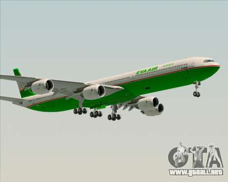 Airbus A340-600 EVA Air para vista lateral GTA San Andreas