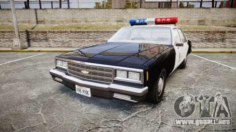 Chevrolet Impala 1985 LAPD [ELS] para GTA 4