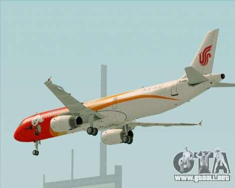 Airbus A321-200 Air China (Beautiful Sichuan) para la vista superior GTA San Andreas