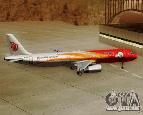Airbus A321-200 Air China (Beautiful Sichuan) para GTA San Andreas