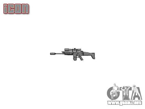 Rifle Mk 17 CICATRIZ-H para GTA 4 tercera pantalla