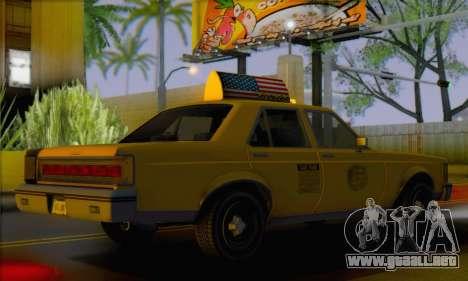 Willard Marbelle Taxi Saints Row Style para GTA San Andreas left