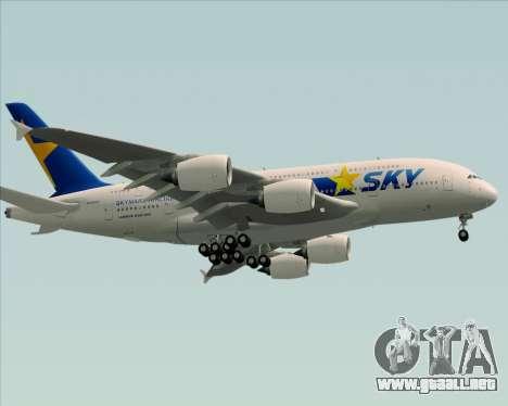 Airbus A380-800 Skymark Airlines para la visión correcta GTA San Andreas