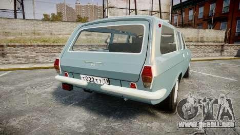GAS-24-12 Volga Wh2 para GTA 4 Vista posterior izquierda