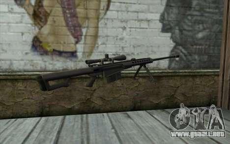 M107 para GTA San Andreas segunda pantalla