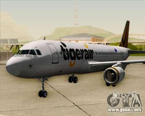 Airbus A320-200 Tigerair Australia para GTA San Andreas vista hacia atrás