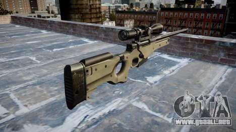 Sniper rifle L96A1 Magnum para GTA 4 segundos de pantalla