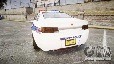 GTA V Cheval Fugitive LS Liberty Police [ELS] para GTA 4 Vista posterior izquierda