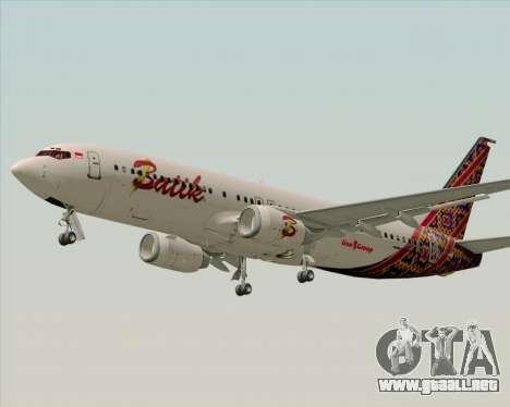Boeing 737-800 Batik Air para visión interna GTA San Andreas