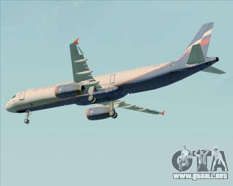 Airbus A321-200 Aeroflot - Russian Airlines para la vista superior GTA San Andreas