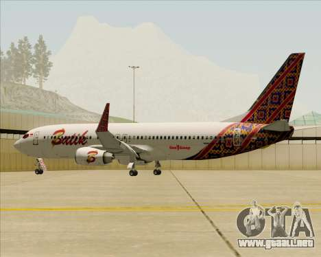 Boeing 737-800 Batik Air para el motor de GTA San Andreas