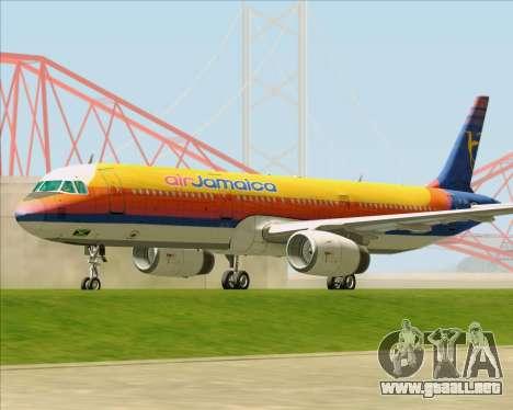 Airbus A321-200 Air Jamaica para GTA San Andreas left