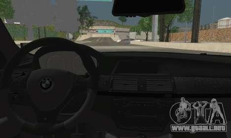 BMW X6M 2013 para GTA San Andreas vista posterior izquierda