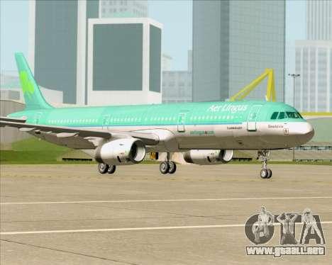Airbus A321-200 Aer Lingus para vista inferior GTA San Andreas
