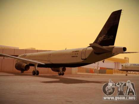 Airbus A321-232 jetBlue Batty Blue para la visión correcta GTA San Andreas