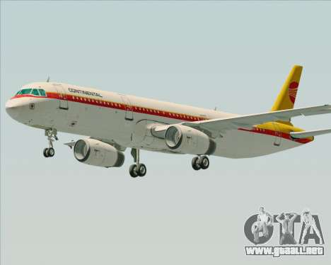 Airbus A321-200 Continental Airlines para GTA San Andreas left